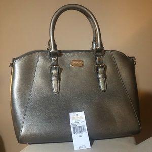 NWOT: Michael Kors Ciara Bag in Nickel